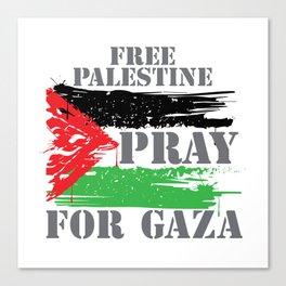 VINTAGE FREE PALESTINE Canvas Print