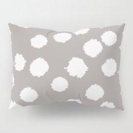 Fuzzy Polka Dots - Raisin/White Pillow Sham