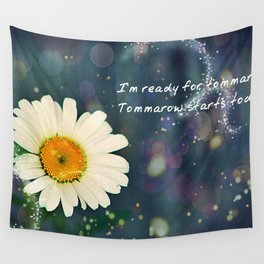Positive Vibes Daisy Wall Tapestry