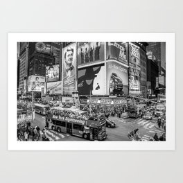 Times Square II Special Edition III BW Art Print