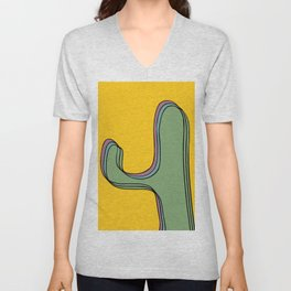 The color cactus Unisex V-Neck
