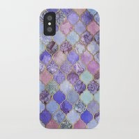 decorative iPhone & iPod Cases featuring Royal Purple, Mauve & Indigo Decorative Moroccan Tile Pattern by micklyn