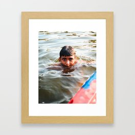 Life in the Water Framed Art Print