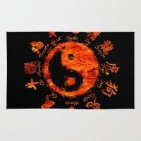 yin yang Area & Throw Rugs featuring Yin yang. by DesignAstur