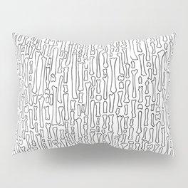 Black and White Skeleton Bone Pattern Pillow Sham