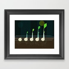music seeds Framed Art Print