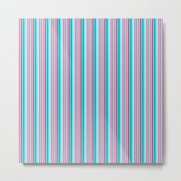 Happy Place Vertical Stripe Metal Print