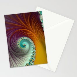 Marmalade Swirl - Fractal Art  Stationery Cards