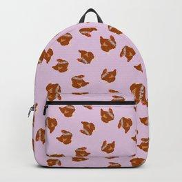 Red Hen Spring Chicken Flower Illustration Backpack
