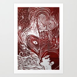 Corazón Art Print