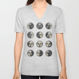 moon phases and romanticism Unisex V-Neck
