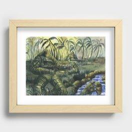Jungle Patrol Recessed Framed Print
