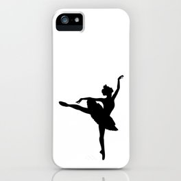 Ballerina silhouette (black) iPhone Case