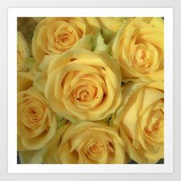 Parisian Rose Garden Yellow Number 2 Art Print