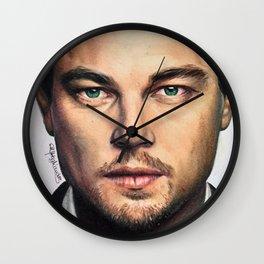 Drawing Leonardo DiCaprio Wall Clock