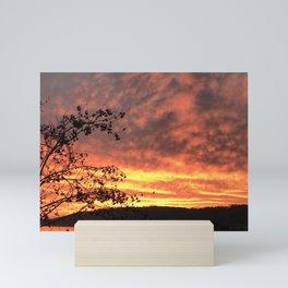 Skys on fire Mini Art Print
