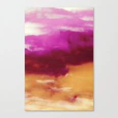Cherry Rose Painted Clouds Canvas Print