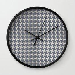 Modern Grey Pin wheel Wall Clock