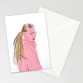 Hairstyle texture Stationery Cards