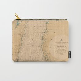 Map of Lake Michigan 1898 Carry-All Pouch