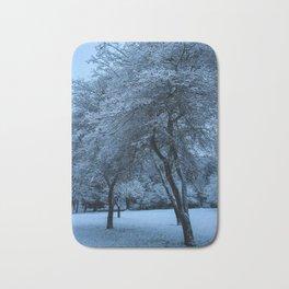 Early Morning Snow, Ravenna Park Bath Mat