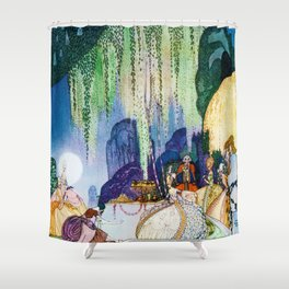 12,000pixel-500dpi - Kay Nielsen - Felicia Looks At The Queen Of The Forest Shower Curtain