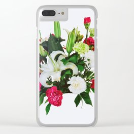 Flower Bundle Clear iPhone Case