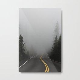 The Eerie Road Path (Color) Metal Print
