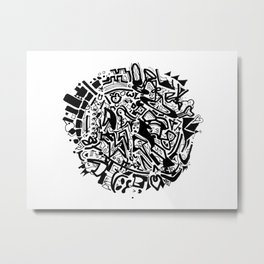 Doodleball Metal Print