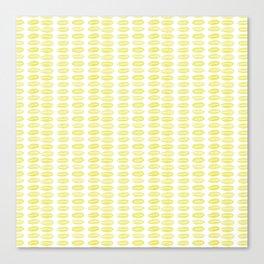 Yellow dots Canvas Print