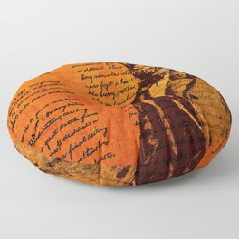 Abraham Lincoln and the Gettysburg Address Floor Pillow
