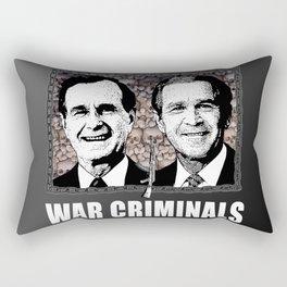 Bush n' Bush: War Criminals.  Rectangular Pillow