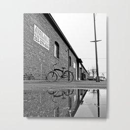 Former railroad depot Metal Print
