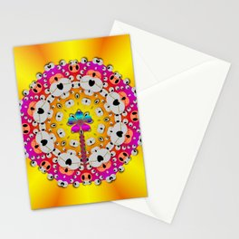 Fantasy flower in tones Stationery Cards