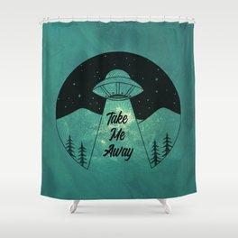 """Take Me Away"" UFO (Colour) Shower Curtain"