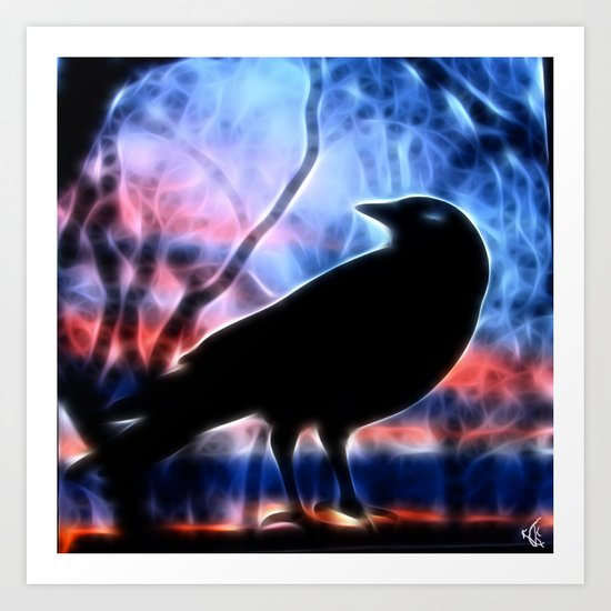 Good Morning Raven Magic Art Print