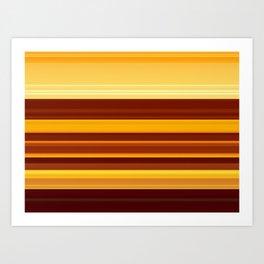 Golden Lava Art Print