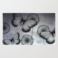 butterflies Area & Throw Rugs featuring Butterflies by LouJah