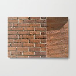 Exposed Brick Metal Print