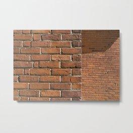 Exposed Brick Metal Print