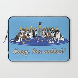 Happy Paw-nukkah! - Happy Hanukkah Laptop Sleeve
