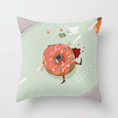 Killer Donut Throw Pillow