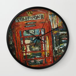 London Telephone Booth 2 Wall Clock