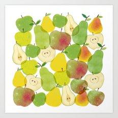 Apples & Pears Art Print