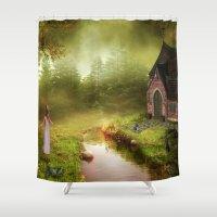 fairy tale Shower Curtains featuring Fairy Tale by Susann Mielke