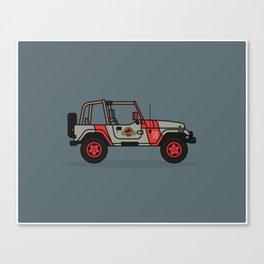 Jurassic Park Jeep Canvas Print