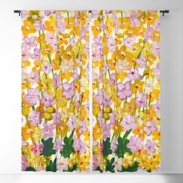 Yellow Flowers Bloom Blackout Curtain