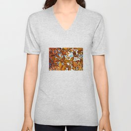 Fall Leaves in the Afternoon - The Peace Collection Unisex V-Neck