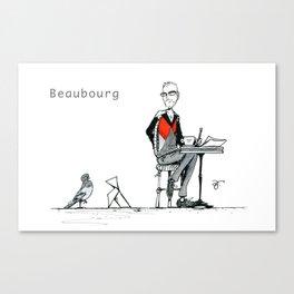 A Few Parisians: Beaubourg by David Cessac Canvas Print