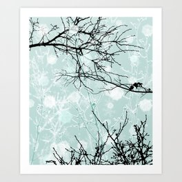 Winter Branches - Graphic Art Print